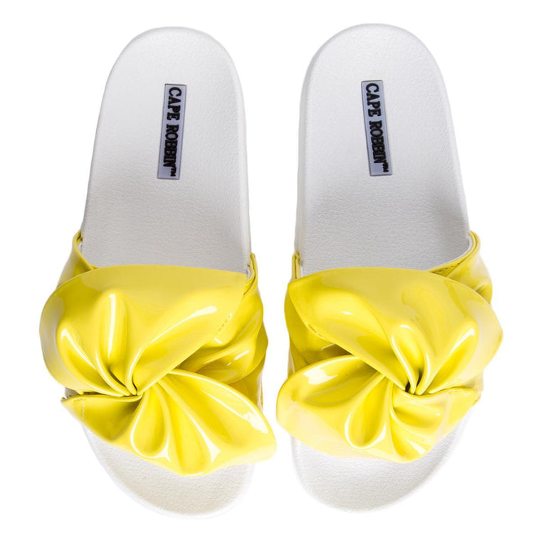 Cape Robbin Moira-72 Women's Yellow Slides