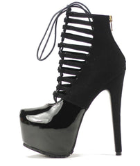 Privileged Shoes by J.C. Dossier: Denmark Black Hi Platform Boots