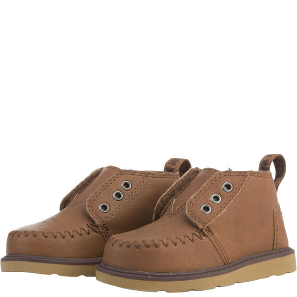 Tiny Toms: Brown Synthetic Leather Chukka Boots