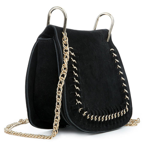 Women's Mini Fringe Suede Shoulder Purse