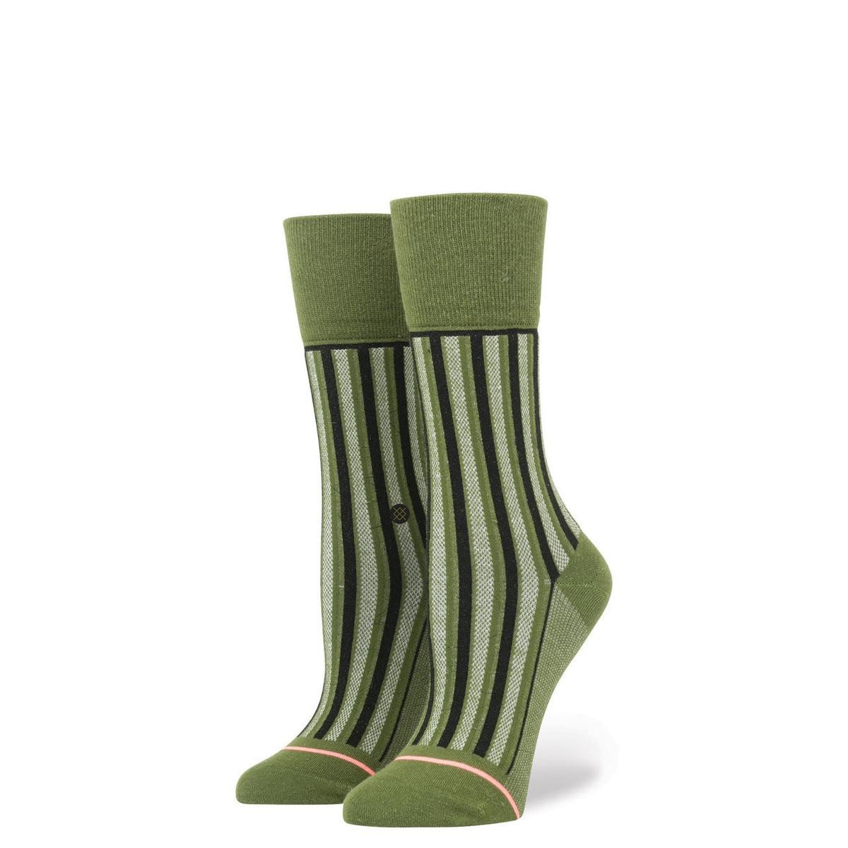Stance for Women: Stripe Up Army Green
