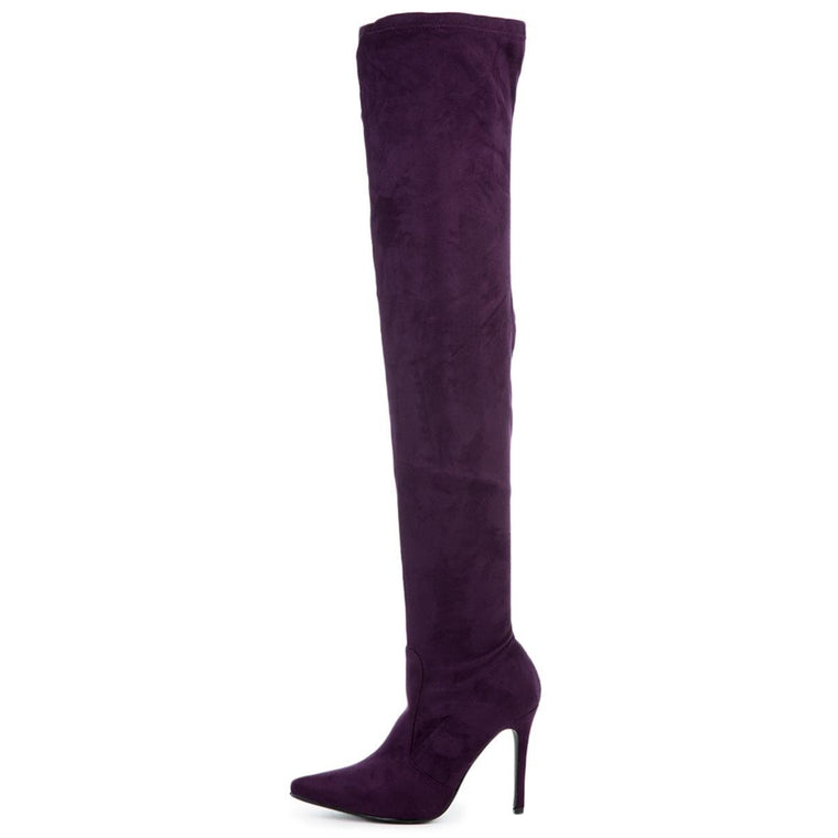Cape Robbin Women's Mini-5 Purple High Heel Boot