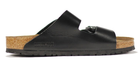 Birkenstock for Men: Arizona Amalfi Black Leather Sandals
