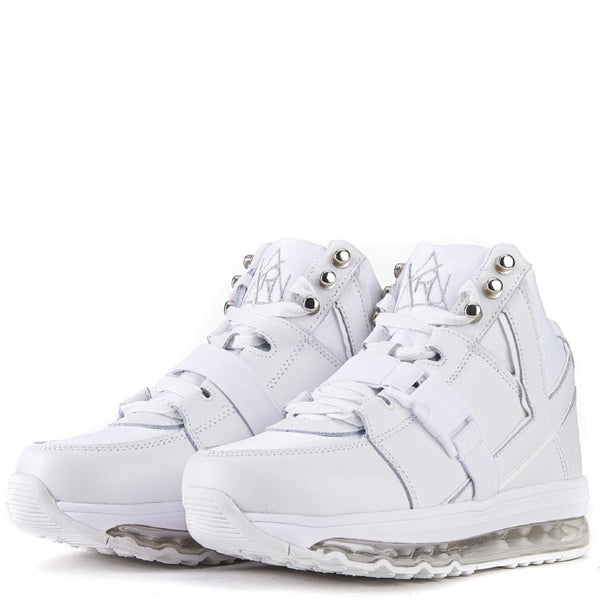Y.R.U. for Women: Qozmo Aiire White Sneakers