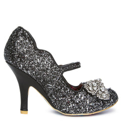 Women's Shimmer Black Light Up High Heel