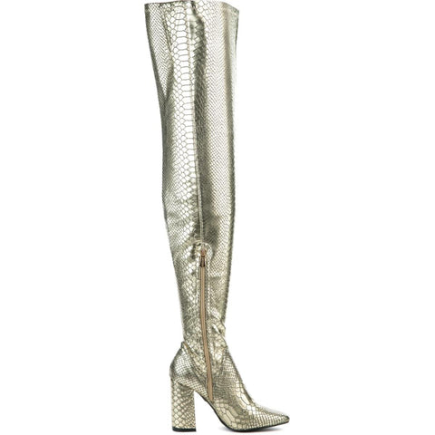 Cape Robbin Betisa-49 Women's Gold Boot