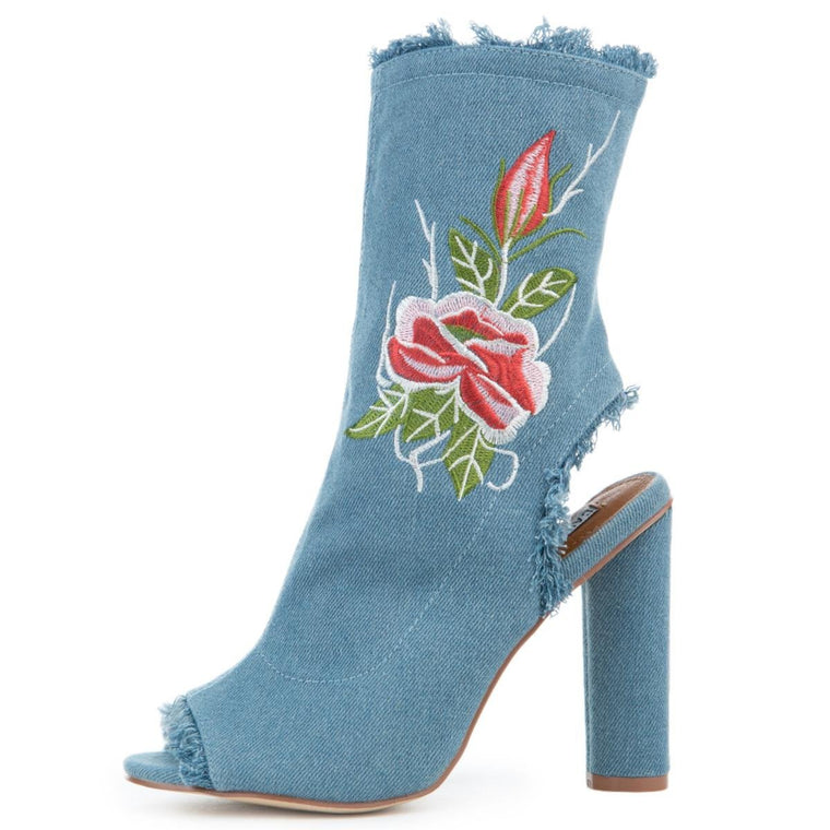 Women's Connie-53 Blue Booties
