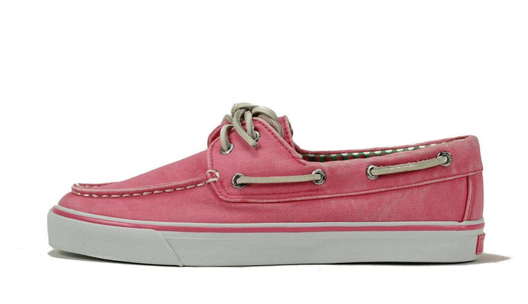 Sperry Topsider for Women: Bahama Pink Canvas Boat Shoe