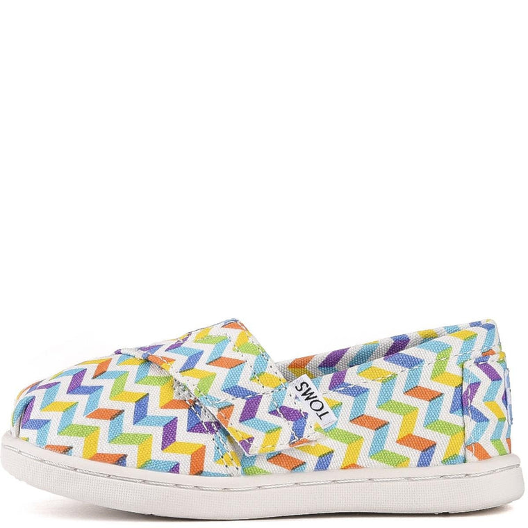 Tiny Toms: Classic Multi Canvas Chevron Flats