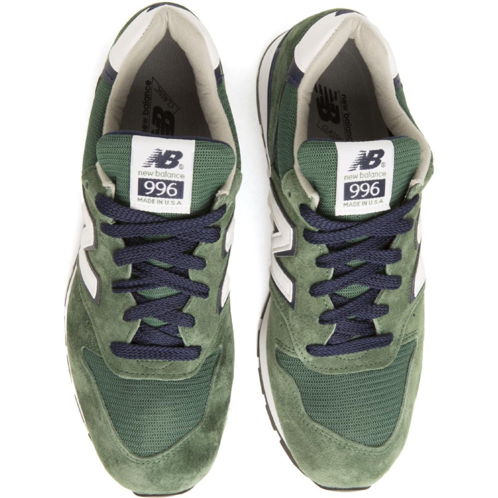 ae3700c62b New Balance for Men: 996 Heritage Made In USA Green/Navy Sneakers