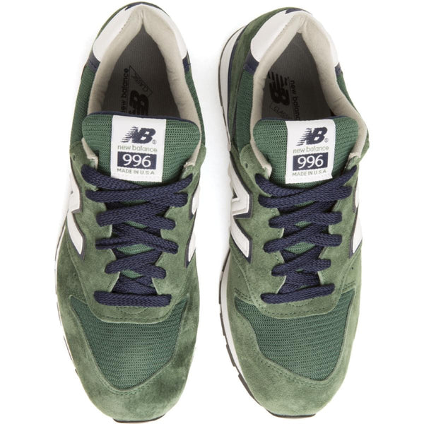 New Balance for Men: 996 Heritage Made In USA GreenNavy Sneakers