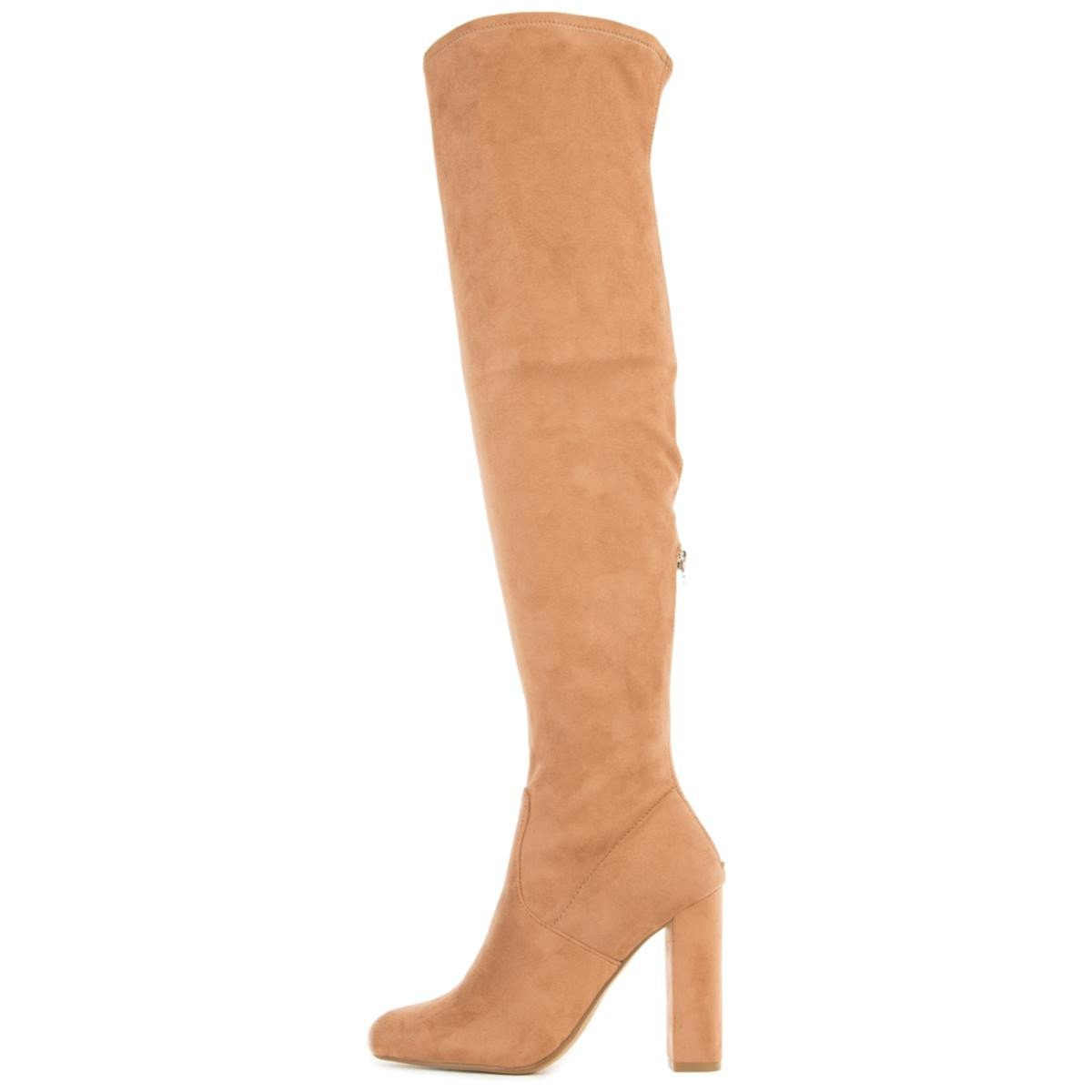 Steve Madden for Women: Emotions Camel Thigh High Heeled Boots