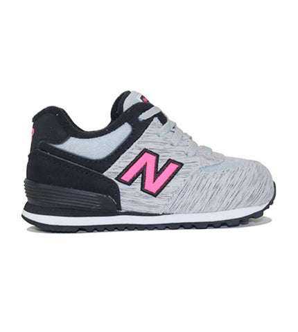 New Balance for Infants: 574 Sweatshirt Grey Sneakers