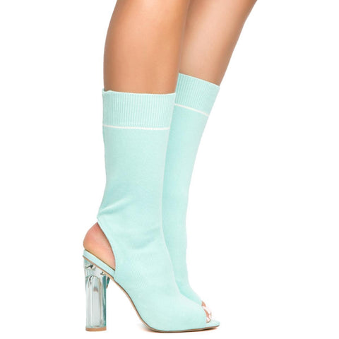 Cape Robbin Connie-39 Mint Women's High Heel Booties