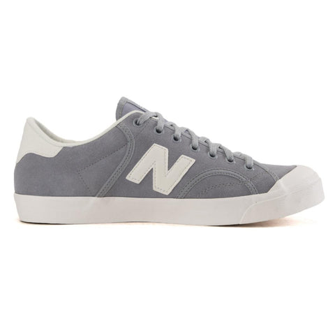 New Balance Unisex: Pro Court Heritage Silver Suede Sneakers