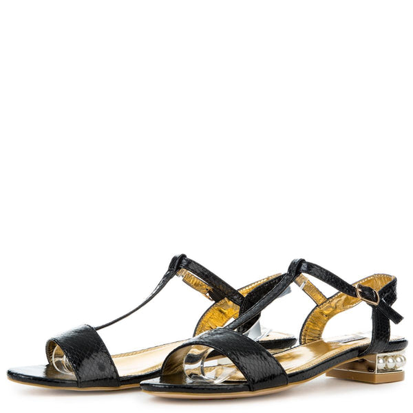 Cape Robbin Ariel-1 Women's Black Sandal
