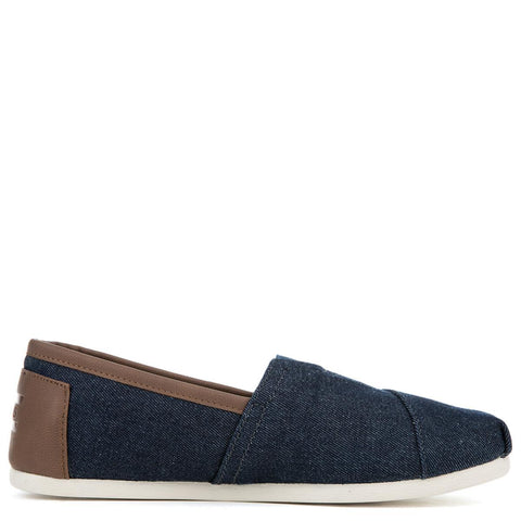 Toms Seasonal Dark Denim Men's Flat