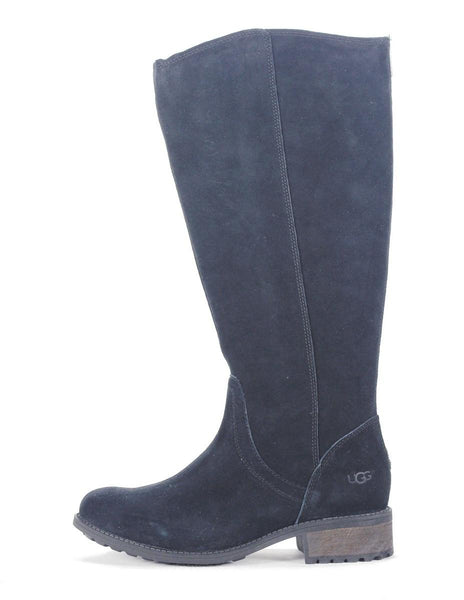 UGG Australia for Women: Seldon Black Suede Tall Boot