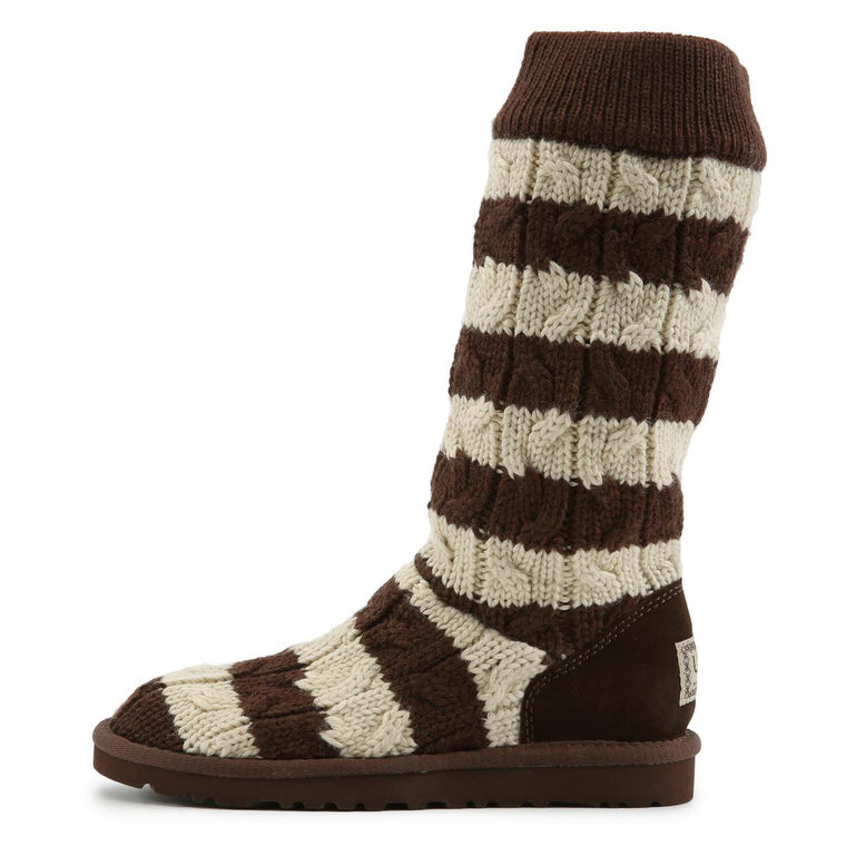 Stripe Boots