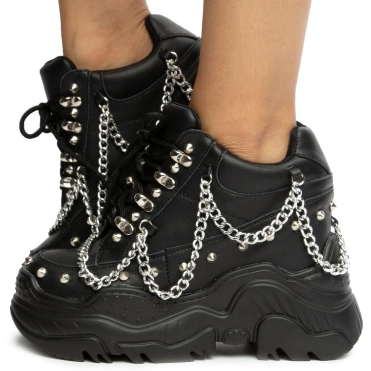 Space Candy Platform Sneakers with Studs
