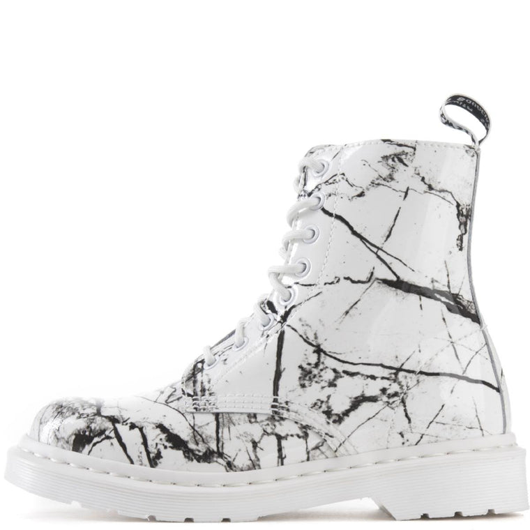 Dr. Martens for Women: Pascal White Marble Boots