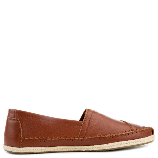 Seasonal Classic Cognac Leather Slip-Ons