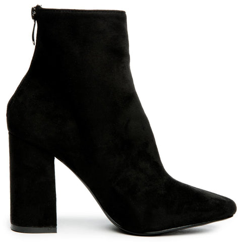 Cape Robbin Betisa-38 Women's Black Heeled Booties