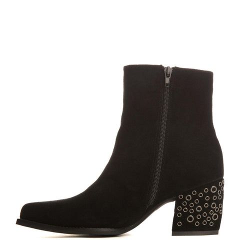 Jeffrey Campbell for Women: Bravado-Ey Black Heel Booties