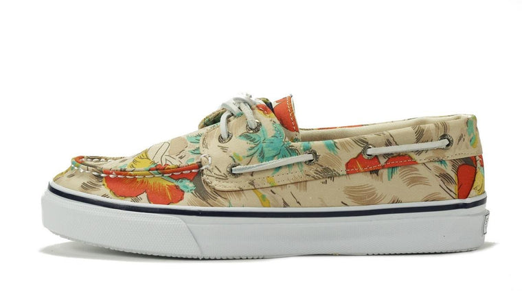 Sperry Topsider for Men: Bahama 2 Eye Hawaiin White Boat Shoe