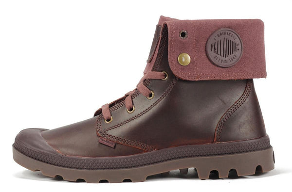 Palladium for Men: Baggy Leather Russet Gum Boots