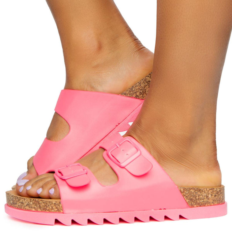 Erase-01 2 Buckle Side Sandals