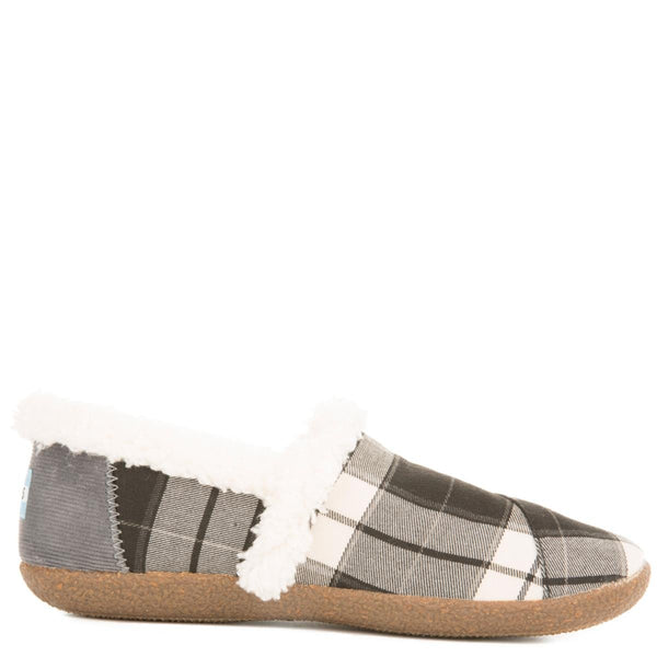 Toms for Women: House Slippers Black and White Plaid