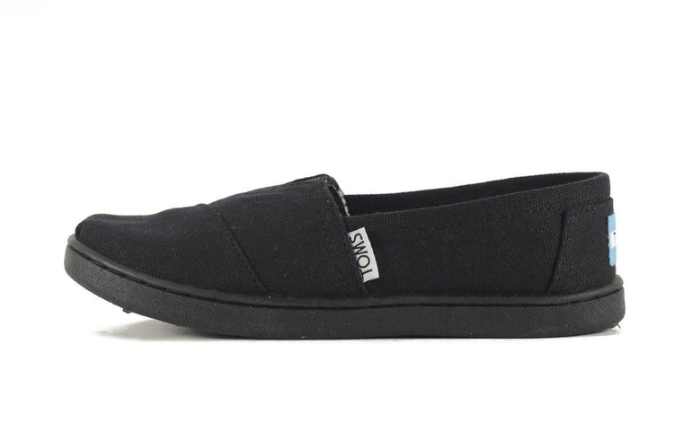 Kids Toms Classic Black Canvas