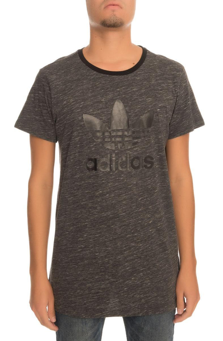 The adidas Trefoil Tee in Grey