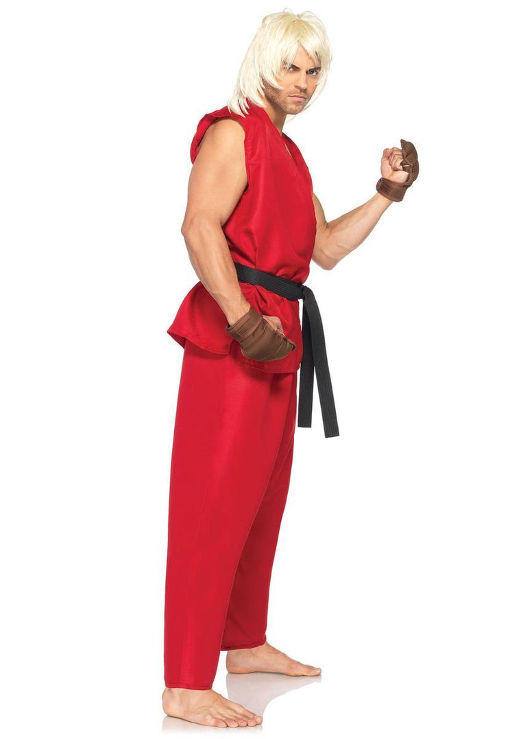 4PC.Ken,includes shirt, pants, belt, gloves in RED
