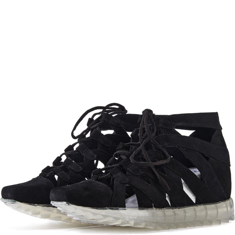 Jeffrey Campbell for Women: Appian Black Suede Sneakers
