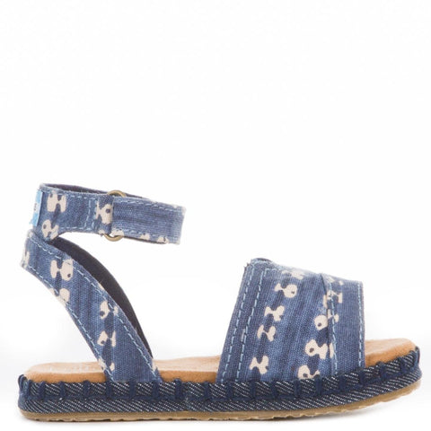 Toms for Toddlers: Navy Batik Stripe Malea Sandle