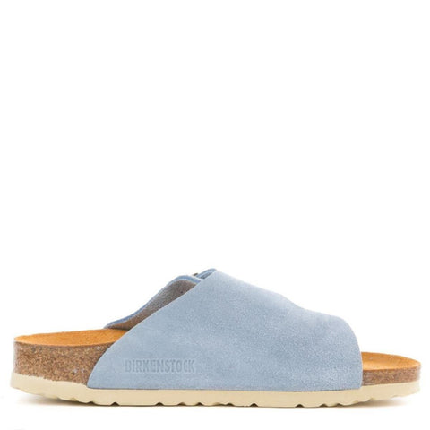 Birkenstock for Women: Zurich Blue Suede Sandals
