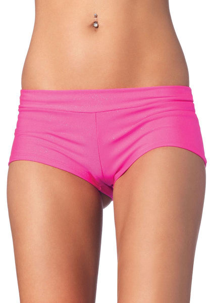 Spandex boy shorts short. in PINK
