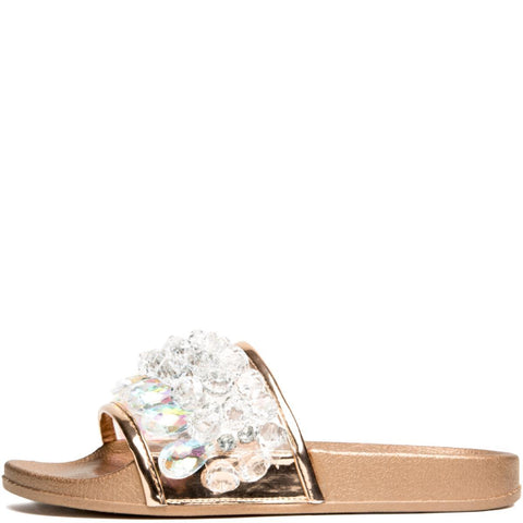 Cape Robbin Women's Moira-63 Rose Gold Women's Slides