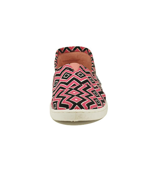 Toms for Kids: Classic Coral Canvas Chevron