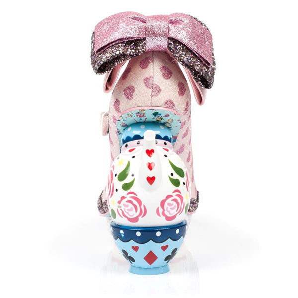 Irregular Choice Alice in Wonderland Collection: My Cup of Tea Pink Heels