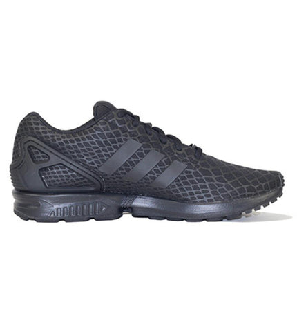 adidas for Men: ZX Flux Techfit Black Sneakers
