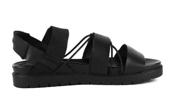 MIA Heritage for Women: Sea Black Leather Sandal