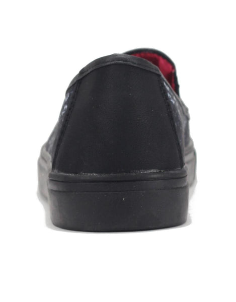 Women's Chill Preach Black Slip on Sneaker