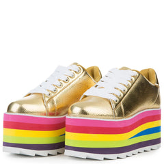 YRU LaLa Gold/Multi Women's Sneaker