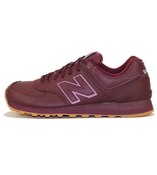 New Balance for Men: 574 Classic Burgundy Sneakers