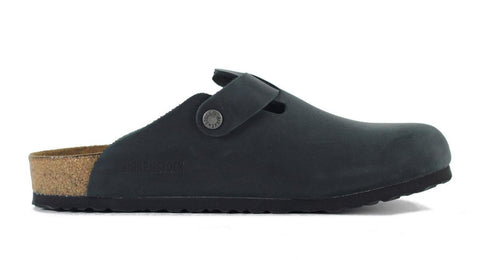 Birkenstock for Men: Boston Oiled Leather Black Sandal