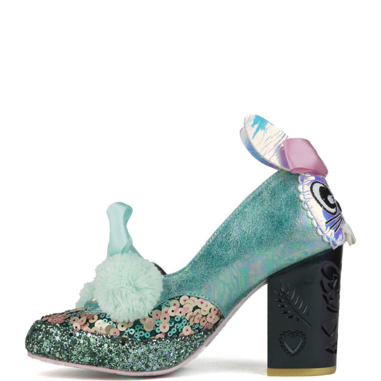 Irregular Choice for Women: Snuggle Bunnie Green Heels