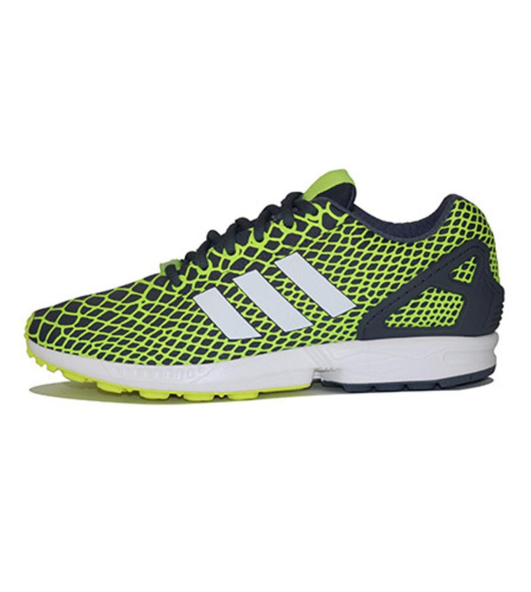 adidas for Men: ZX Flux Techfit Solar Yellow / Running White FTW / Onix Sneakers